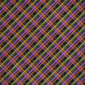 halloween plaid paper