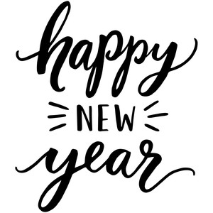 Happy New Year Font 68