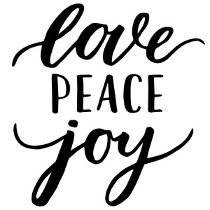 love peace joy phrase