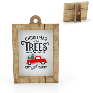 3d frame christmas tree truck