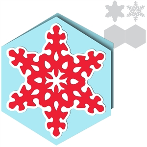 card simple snowflake hexagon