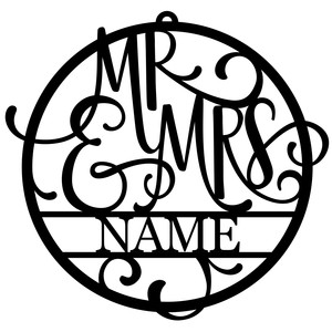 personalized tag ornament - mr & mrs