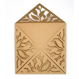 card wrap square-leaves