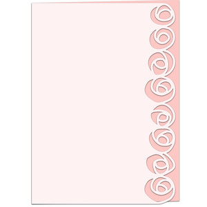 rosebud lace edged greetings card