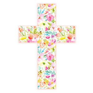 easter cross with flowers