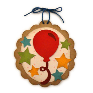 balloon disc ornament