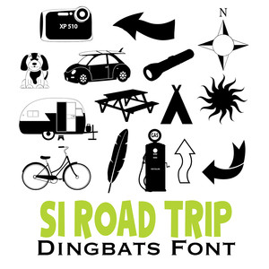 road trip dingbat fonts