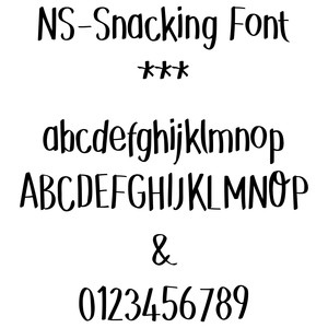 nssnacking font