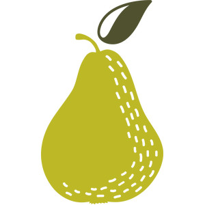 textured pear