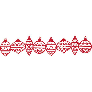 christmas ornaments border