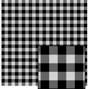 black and white buffalo plaid pattern