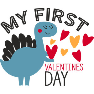 my first valentines day dino