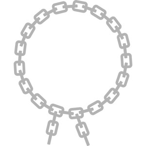chains circle frame