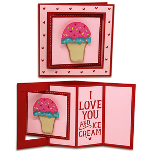 ice cream window lever card