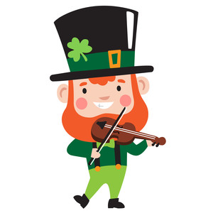 leprechaun playing the fiddle