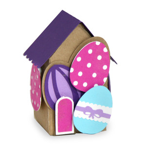 mini table top easter village - easter egg house