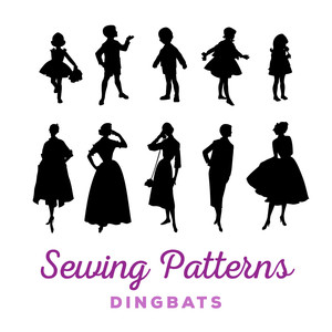 sewing patterns dingbats
