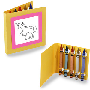 square coloring cards - little unicorn