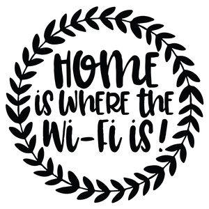 home is where the wifi is leafy wreath