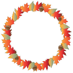 autumn wreath – print & cut
