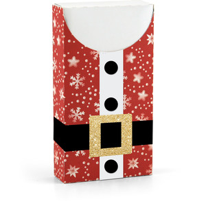 santa suit gift card box with sleeve
