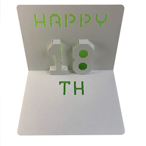 happy 18th popup card