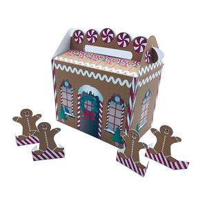gingerbread house gable box with gingerbread men