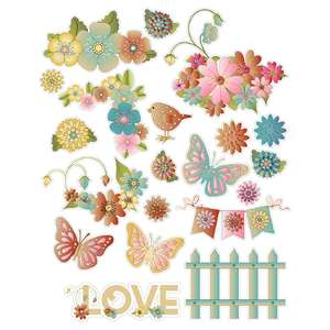 romantic flowers stickers