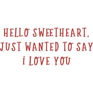hello sweetheart phrase