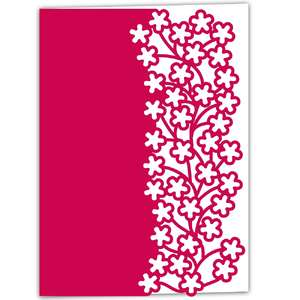 blossom flower lace edged card