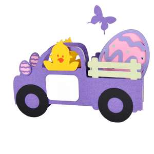 3d easter egg express easter truck card