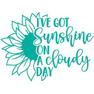 i've got sunshine on a cloudy day