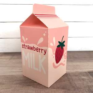 strawberry milk play food