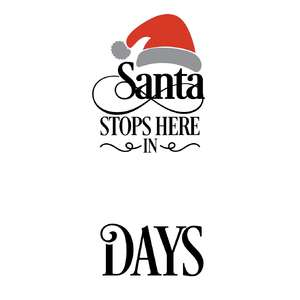 santa stops here in …. days