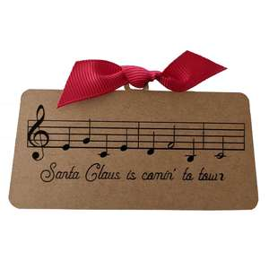 santa claus is comin to town gift tag