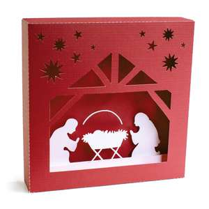 christmas manger shadowbox
