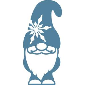gnome with snowflake hat