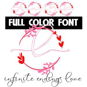 infinite endings love color font