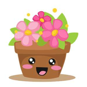 cute potted plant