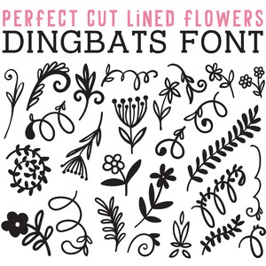 cg perfect cut lined flowers dingbats