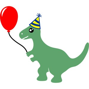 t-rex dinosaur happy birthday