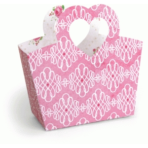 3d heart handle tote