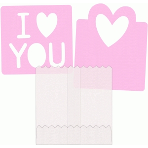 valentine card and sleeve set