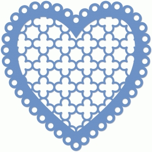 quatrefoil scalloped heart
