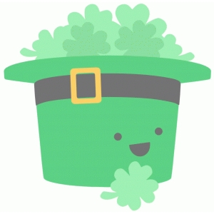 leprechaun hat and clover