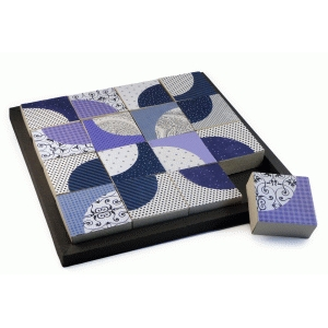 quilt blocks puzzle crooked mile & tray