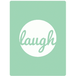 laugh journaling card