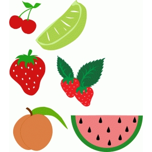 summer fruit set