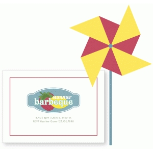 barbecue invitation and pinwheel