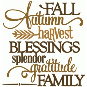 autumn fall harvest blessings gratitude - vinyl phrase